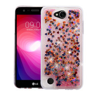 Quicksand Glitter Transparent Case for LG X Power 2 / Fiesta - Magenta