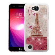 *Sale* Quicksand Glitter Transparent Case for LG X Power 2 / Fiesta - Eiffel Tower