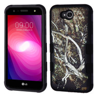Military Grade Certified TUFF Image Hybrid Armor Case for LG X Power 2 / Fiesta - Tree Camouflage