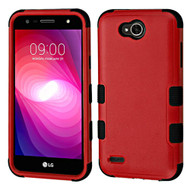 Military Grade Certified TUFF Hybrid Armor Case for LG X Power 2 / Fiesta - Red