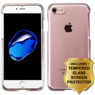 Snap-On Crystal Case and Tempered Glass Screen Protector for iPhone 8 / 7 - Clear