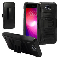 *SALE* Advanced Armor Hybrid Kickstand Case with Holster for LG X Power 2 / Fiesta - Black