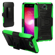 Advanced Armor Hybrid Kickstand Case with Holster for LG X Power 2 / Fiesta - Black Green