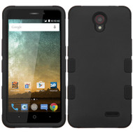 Military Grade Certified TUFF Hybrid Armor Case for ZTE Prestige 2 / ZFive 2 - Black