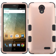 Military Grade Certified TUFF Hybrid Armor Case for ZTE Prestige 2 / ZFive 2 - Rose Gold