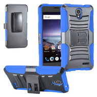 Advanced Armor Hybrid Kickstand Case with Holster for ZTE Prestige 2 / ZFive 2 - Black Blue