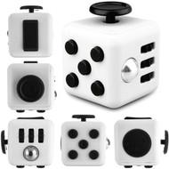 Fidget Cube Vinyl Desk Toy - White Black
