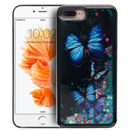Electroplating Quicksand Glitter Case for iPhone 7 Plus - Butterfly