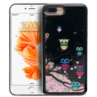 Electroplating Quicksand Glitter Case for iPhone 7 Plus - Owls