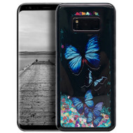 Electroplating Quicksand Glitter Case for Samsung Galaxy S8 - Butterfly