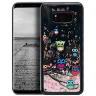 Electroplating Quicksand Glitter Case for Samsung Galaxy S8 - Owls
