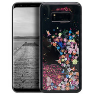 Electroplating Quicksand Glitter Case for Samsung Galaxy S8 - Secret Garden