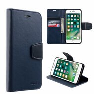 Urban Classic Leather Wallet Case for iPhone 8 Plus / 7 Plus - Navy Blue