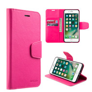 Urban Classic Leather Wallet Case for iPhone 8 Plus / 7 Plus - Hot Pink