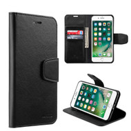 Urban Classic Leather Wallet Case for iPhone 7 - Black