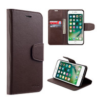 Urban Classic Leather Wallet Case for iPhone 8 / 7 - Brown