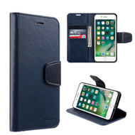 Urban Classic Leather Wallet Case for iPhone 8 / 7 - Navy Blue