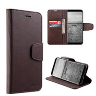 Urban Classic Leather Wallet Case for Samsung Galaxy S8 Plus - Brown