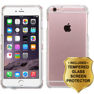 Snap-On Crystal Case and Tempered Glass Screen Protector for iPhone 6 Plus / 6S Plus - Clear