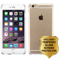 Snap-On Crystal Case and Tempered Glass Screen Protector for iPhone 6 / 6S - Clear
