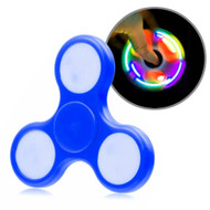 LED Light Fidget Finger Spinner Hand Spinning Toy - Navy Blue