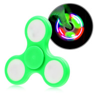 *Sale* LED Light Fidget Finger Spinner Hand Spinning Toy - Green