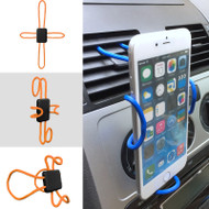 Universal Cross-Shaped Flexible DIY Smartphone Holder Mount - Orange