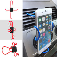 Universal Cross-Shaped Flexible DIY Smartphone Holder Mount - Red