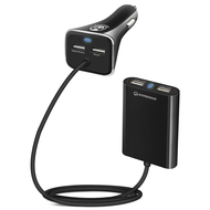 HyperGear Road Runner Quad USB 8.2A Car Charger - Black