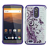 *Sale* TotalDefense Diamond Hybrid Case for ZTE Max XL / Blade Max 3 - Butterfly Purple