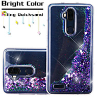 Quicksand Glitter Transparent Case for ZTE Max XL / Blade Max 3 - Purple