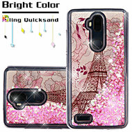 *Sale* Quicksand Glitter Transparent Case for ZTE Max XL / Blade Max 3 - Eiffel Tower