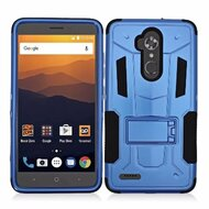 *SALE* Transformer Hybrid Armor Case with Stand for ZTE Max XL / Blade Max 3 - Blue