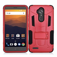 *Sale* Transformer Hybrid Armor Case with Stand for ZTE Max XL / Blade Max 3 - Red