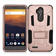 *SALE* Transformer Hybrid Armor Case with Stand for ZTE Max XL / Blade Max 3 - Rose Gold