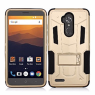 Transformer Hybrid Armor Case with Stand for ZTE Max XL / Blade Max 3 - Gold