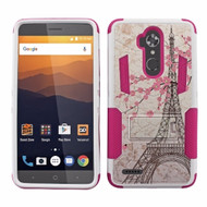 *Sale* Transformer Hybrid Armor Case with Stand for ZTE Max XL / Blade Max 3 - Eiffel Tower