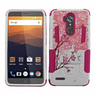 *Sale* Transformer Hybrid Armor Case with Stand for ZTE Max XL / Blade Max 3 - Spring Flowers
