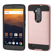 *Sale* Brushed Hybrid Armor Case for ZTE Max XL - Rose Gold