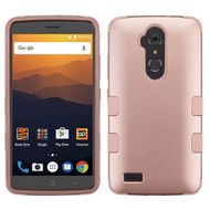 Military Grade Certified TUFF Hybrid Armor Case for ZTE Max XL / Blade Max 3 - Rose Gold