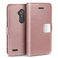 *SALE* Essential Leather Wallet Case for ZTE Max XL / Blade Max 3 - Rose Gold
