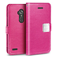 *SALE* Essential Leather Wallet Case for ZTE Max XL / Blade Max 3 - Hot Pink