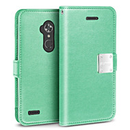 *Sale* Essential Leather Wallet Case for ZTE Max XL / Blade Max 3 - Teal