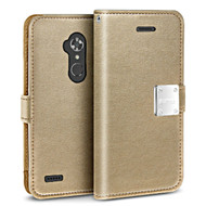 Essential Leather Wallet Case for ZTE Max XL / Blade Max 3 - Gold