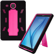 Explorer Impact Armor Kickstand Hybrid Case for Samsung Galaxy Tab E 9.6 - Black Hot Pink