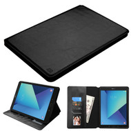 Book-Style Leather Folio Case for Samsung Galaxy Tab S3 9.7 - Black