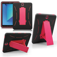 Explorer Impact Armor Kickstand Hybrid Case for Samsung Galaxy Tab S3 9.7 - Black Hot Pink