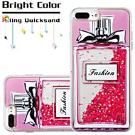 Quicksand Glitter Transparent Case for iPhone 7 Plus - Perfume Bottle