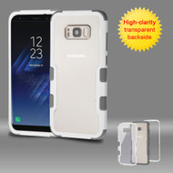 TUFF Vivid Hybrid Armor Case for Samsung Galaxy S8 Plus - White Grey