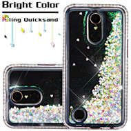 Diamond Quicksand Glitter Transparent Case for LG K20 Plus / K20 V / K10 (2017) / Harmony - Silver